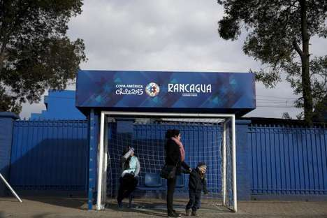 Goal Post Bus Stops - Copa America Turns Bus Stops into Goal-Shaped Football Ads
