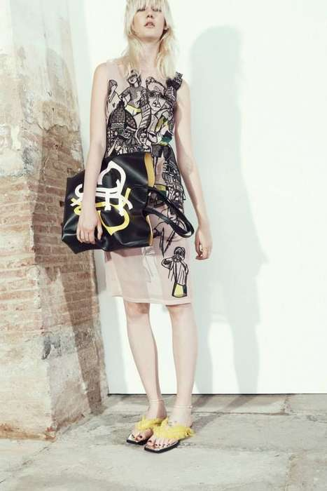 Selfie-Inspired Dresses - The Pucci Selfie Stick Dress Features an Unusual Modern Print
