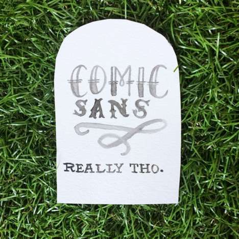 Humorous Hand-Lettered Tombstones - Two Artists Cleverly Illustrate 100 Things That Should Die