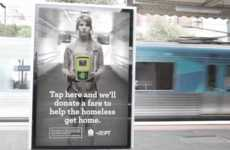 Compelling Donation Posters - Public Transport Victora Urges Commuters to Donate to the Homeless