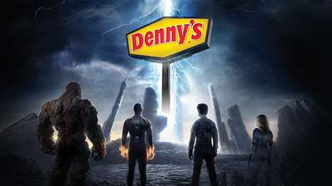 Superhero-Infused Menus - Denny's & 20th Century Fox are Launching a Fantastic Four-Themed Menu