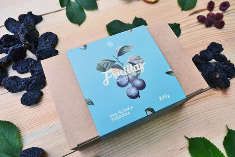 Rustic Fruit Snack Packaging - 'Frutitas' Uses Leaf Packing for its Organic Dried Fruit Snacks