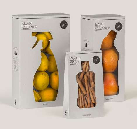 Cleansing Produce Packaging - WWF's 'just' Showcases Natural Care Products from the Earth