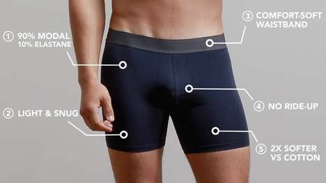 Ultra-Comfortable Underwear - Comfortable Boxers' Boxer Briefs Are Luxurious Yet Affordable
