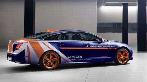 Speedily Supportive Cars - The Jaguar XJR Will Support the Bloodhound SSC's Record-Breaking Attempt
