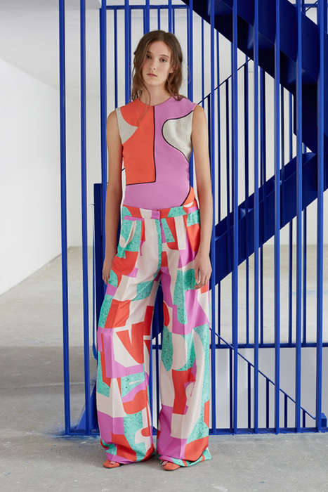 Box-Patterned Fashion Lines - The Roksanda Fashion Line Reveals Bold Colors & Bolder Patterns