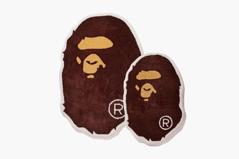 Street Wear-Branded Rugs - This BAPE Rug Features the Iconic Ape Head Mascot