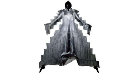 Sculptural Dancer Portraits - Issey Miyake Garments is Artistically Captured by Francis Giacobetti