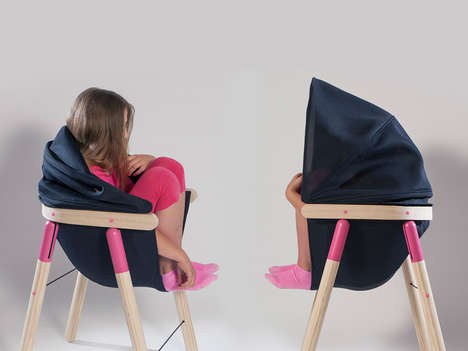 Enclosing School Furniture - The Soothing Chair by Dorja Benussi Provides a Safe Haven for Students