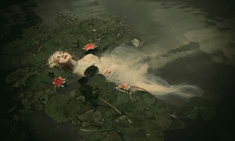 Romantic Shakespearean Photography - Ophelia by Dorota Gorecka Recreates the Famous Drowning Scene