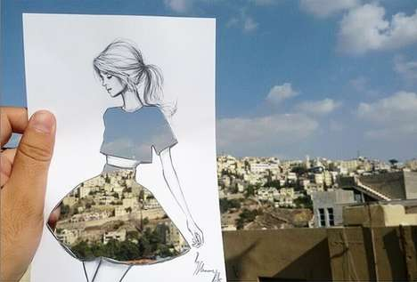 Cut-Out Fashion Illustrations - Shamekh Al-Bluwi Combines His Love of Fashion and Architecture