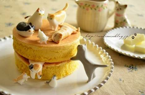 Tiny Cat-Shaped Treats - Blogger Caroline Creates Adorable Teatime Sweets in Honor of Cat's Day