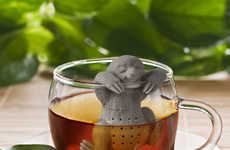 The 'Slow Brew' Tea Infuser Features a Miniature Mammal Figure