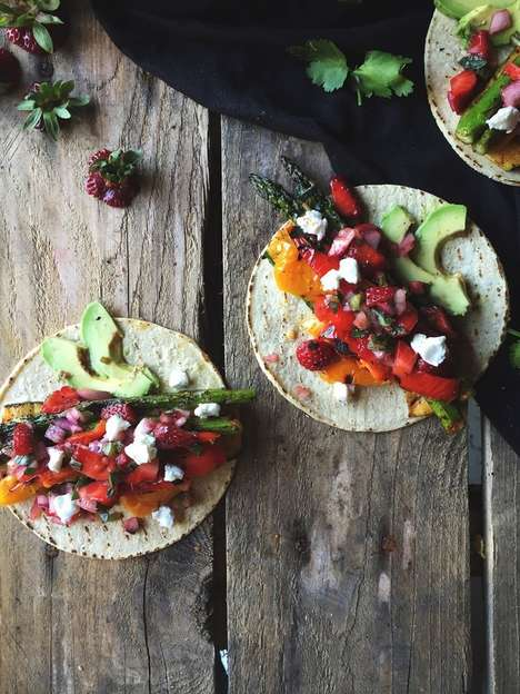 Grilled Veggie Tacos - This Vegetarian Recipe Contains Seasonal Ingredients for the Summer Season