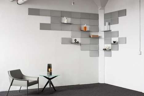Space-Saving Folding Shelves - Lake and Wells Designs a Storage Unit with Small Spaces in Mind