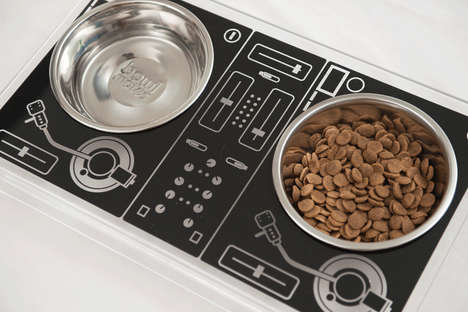 DJ-Inspired Dog Dishes - This Turntable Dog Feeder was Created by 'Unleash Studio'