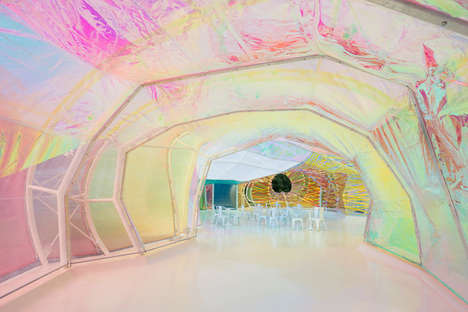 Kaleidoscopic Public Structures - This Year's Serpentine Pavilion Offers a Trippy Experience