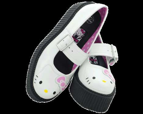 Iconic Kitty-Themed Platforms - T.U.K's Hello Kitty Creepers Promote Edgy Kawaii Style
