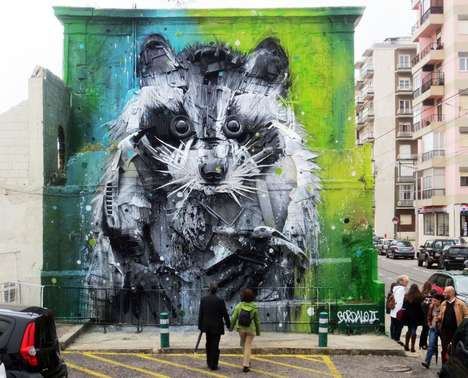 3D Animal Graffiti - This Stunning Street Art Series is Made from Trash and Recycled Materials
