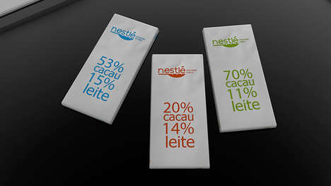 Whitespace Chocolate Bar Labels - This Simple Chocolate Bar Brand Combines Whitespace & Bold Print