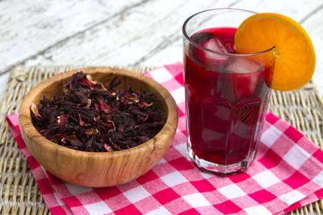 Hibiscus Iced Teas - This Hibiscus Iced Tea Has a Glowing Ruby Red Color