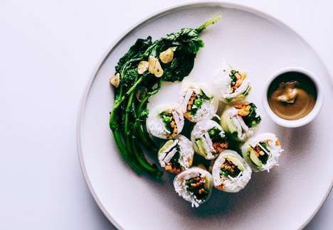 Healthy Homemade Sushi - Iamafoodblog's Avocado Chicken Broccoli Summer Rolls are Light and Fresh