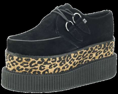 Towering Leopard Platforms - The Leopard Double Double Creepers Tower Over All Other Platfrom Shoes