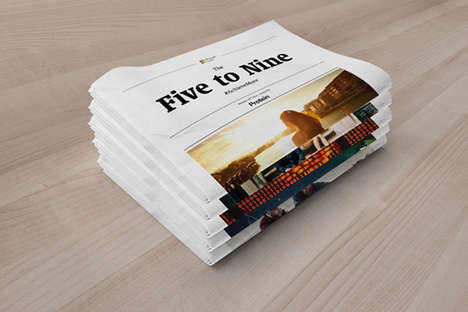 Branded Tech Newspapers - 'Five to Nine' is a Commuter-Focused Publication by Microsoft