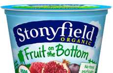 Exotic Superfood Yogurts - Stonyfield Organic's Pomegranate Raspberry Acai Blend is Fat-Free