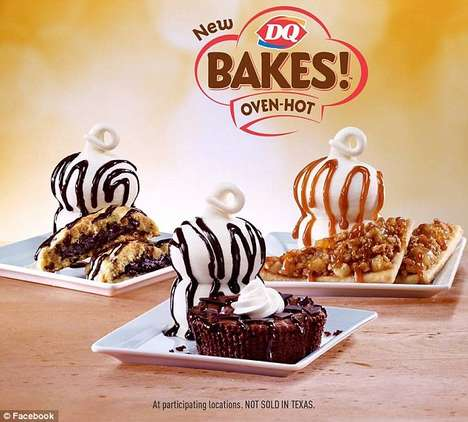 Sizzling Dairy Desserts - Dairy Queen Unveiled its Line of Warm Ice Cream Dessert Treats