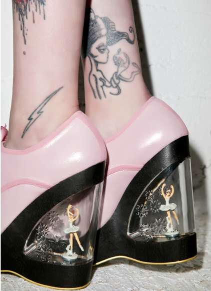 Ballerina Shoe Dioramas - Irregular Choice's 'Glissade' Ballerina Wedges are Elegantly Modern