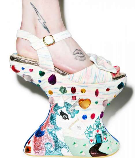 Decorative No-Heel Sandals - Irregular Choice's Tall Tail Sandals Lack a Crucial Design Element