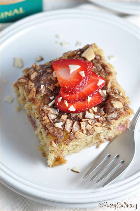 Superfood Coffee Cakes - Very Culinary's Strawberry Almond Dessert Boasts a Caffeine Kick