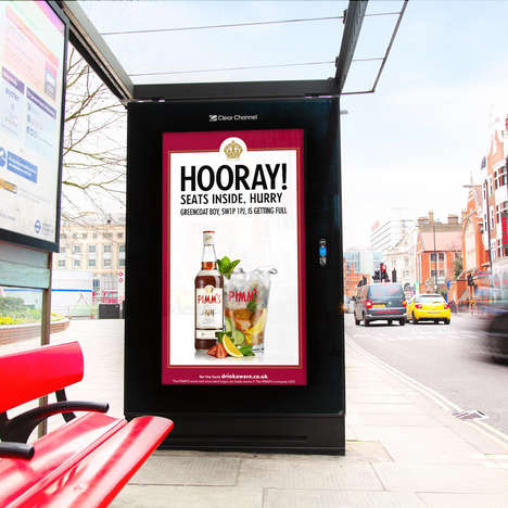 Bar-Locating Billboards - The 'Pimm's Live' Drink Ads Direct People to the Nearest Pub