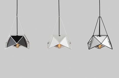Geometric-Framed Lighting - U32-1 by SHIFT is a Modern Metal Light Fixture