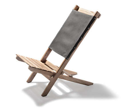 Elegant Folding Chairs - Kaufmann Mercantile's Waxed Canvas Chair is Sleek and Rustic