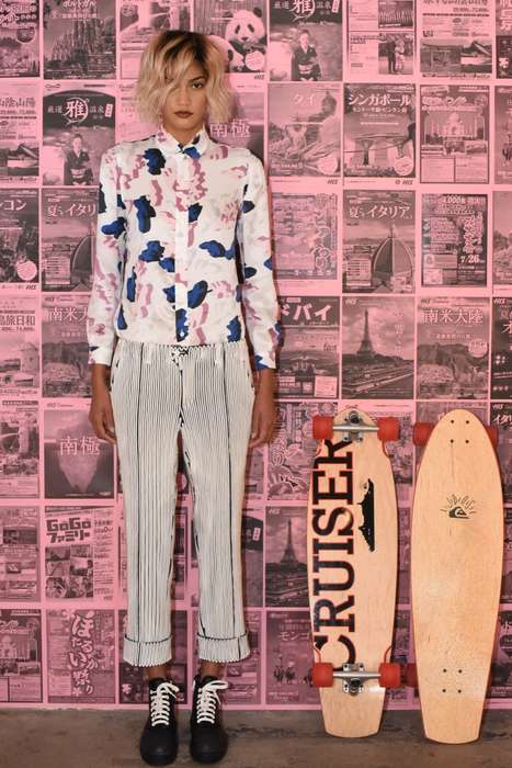 Eccentric Skater Resortwear - The Julien David Resort Collection Contributes to Skate Culture