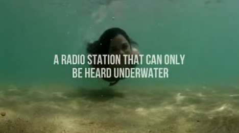 Underwater Radio Stations - Neutrogena's Sea Radio Station Only Plays Underwater Music