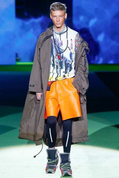 Amplified Surfer Collections - The Dsquared2 Spring Menswear Line Exaggerates Surfer Style