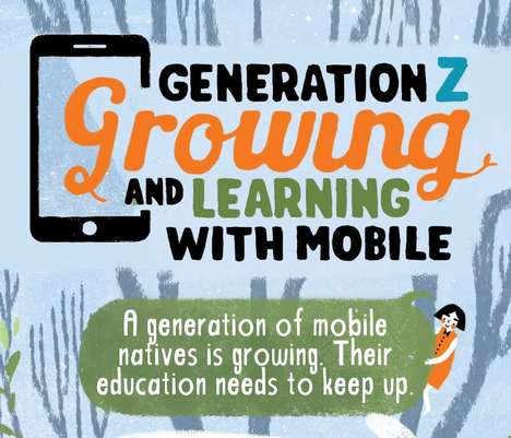 Gen Z Mobile Infographics - This Useful Graph Outlines the Ways Gen Z Learns Through Mobile