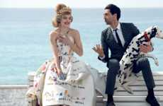 Glamorous Couple Editorials - Natalia Vodianova and Adrien Brody Star in the Latest Vogue US Issue