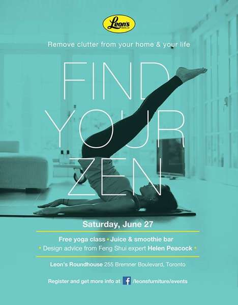 Zen Furniture Events - Leon's Encourages Finding Peace at Home with a relaxing Yoga Event