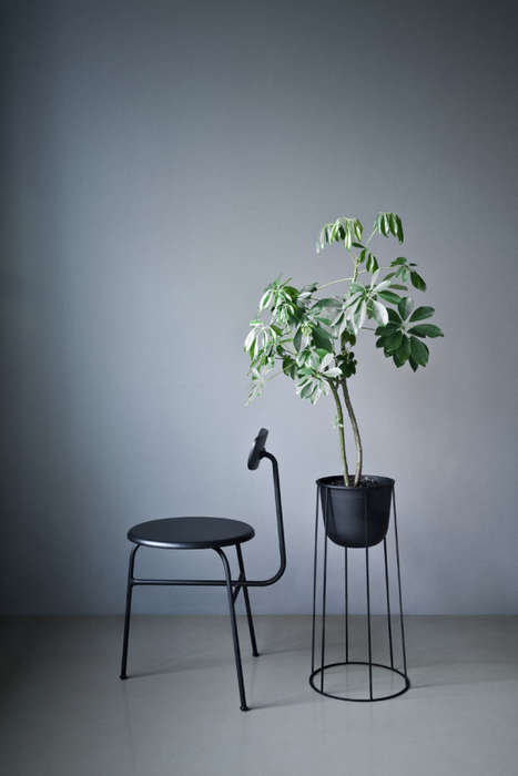 Japanese Garden-Inspired Furniture - The Wire Series by Norm Architects Features Planters and Lamps