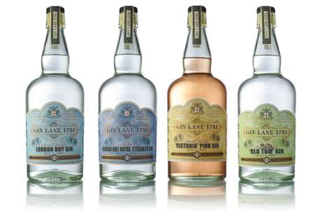 Victorian-Styled English Gins - 'Gin Lane 1751' is Handcrafted with Hints of Juniper and Licorice