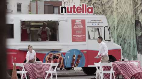 Touring Hazelnut Trucks - The Nutella Truck Tour Serves the Nutty Chocolate Spread for Breakfast