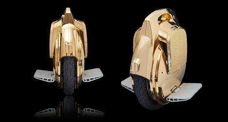 Luxurious Metallic Scooters - This Golden Electric Scooter Takes Eco-Commuting to Lavish Extremes