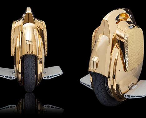Luxurious Metallic Scooters