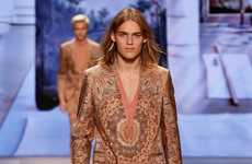 The Etro Men's Spring Collection Showcases Dramatic Patterning