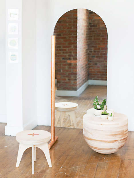 Reflective Furniture Hybrids - The Wabi-Sabi Mirror&Table by Eny Lee Parker is Creatively Chic