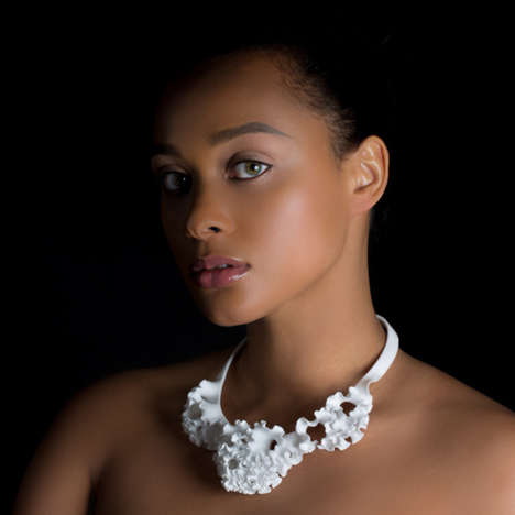 Floral 3D-Printed Jewelry - This Gorgeous Jewelry Line is Inspired by the Growth of Flowers